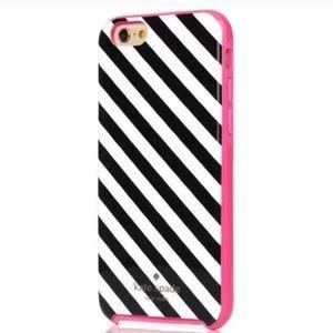 kate spade Accessories - Kate Spade black white stripe iPhone case 8 7 6 6s